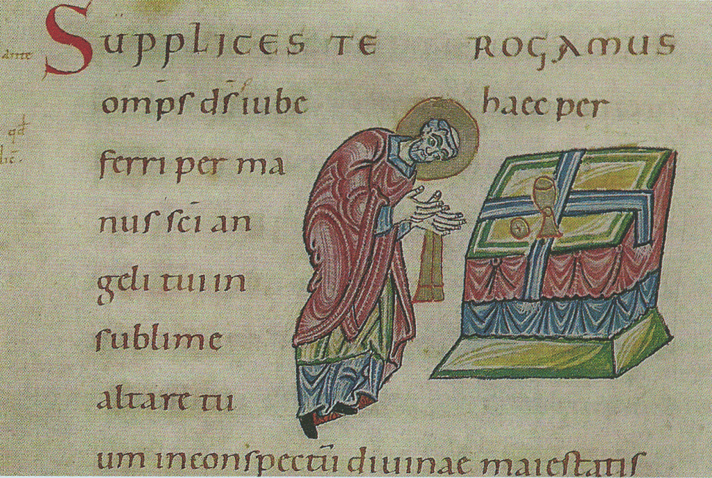 Canon-Illustration, Sakramentar um 1000 (Reichenauer Schule)