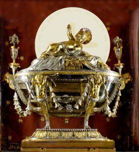 Fotomontage, Reliquie der Krippe in Santa Maria Maggiore, Rom